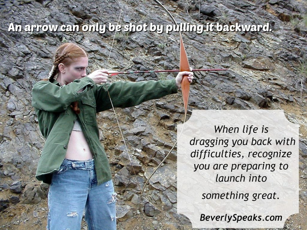 arrow can only be shot by pulling it backward