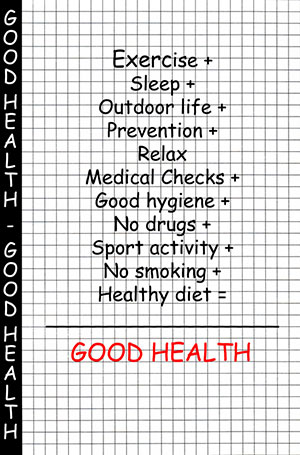 checklist for good health