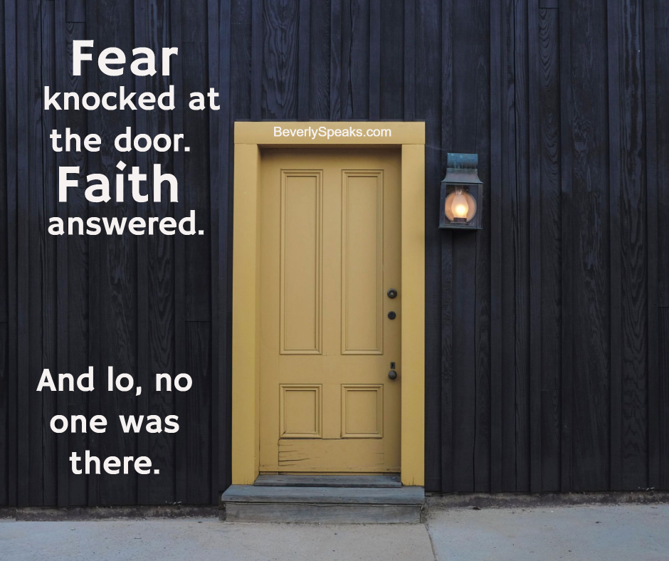 Fear Knocked - Faith Answered