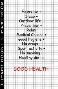 checklist for good health